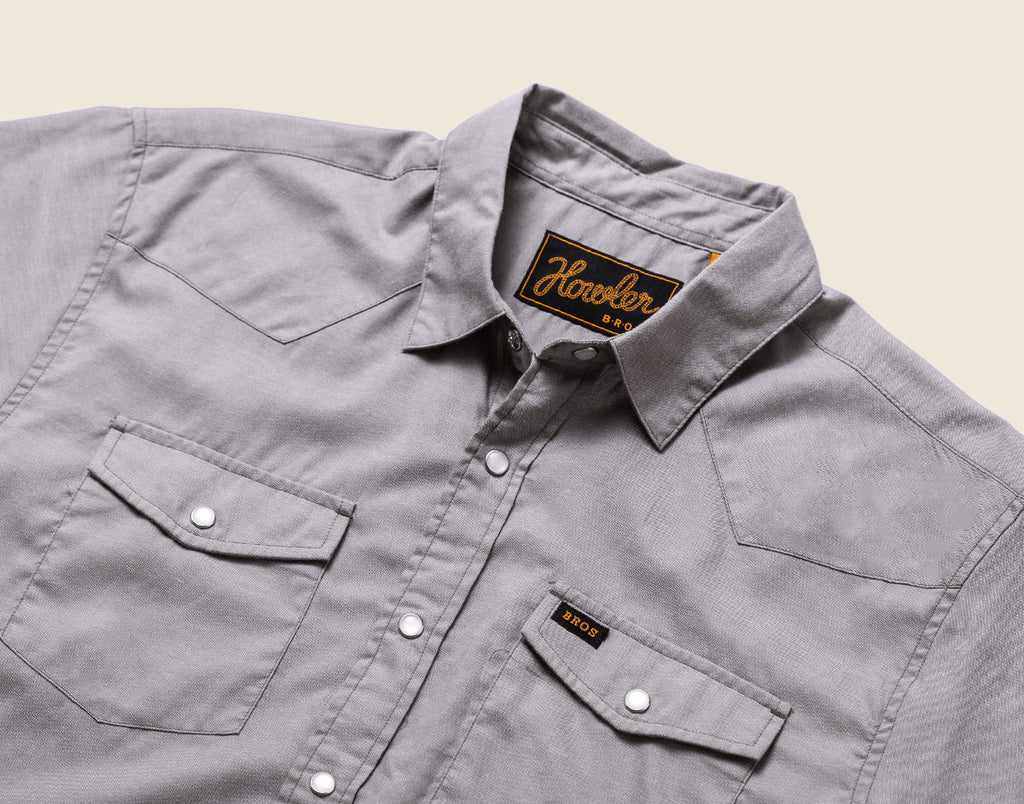 H Bar B Snapshirt - Oxford