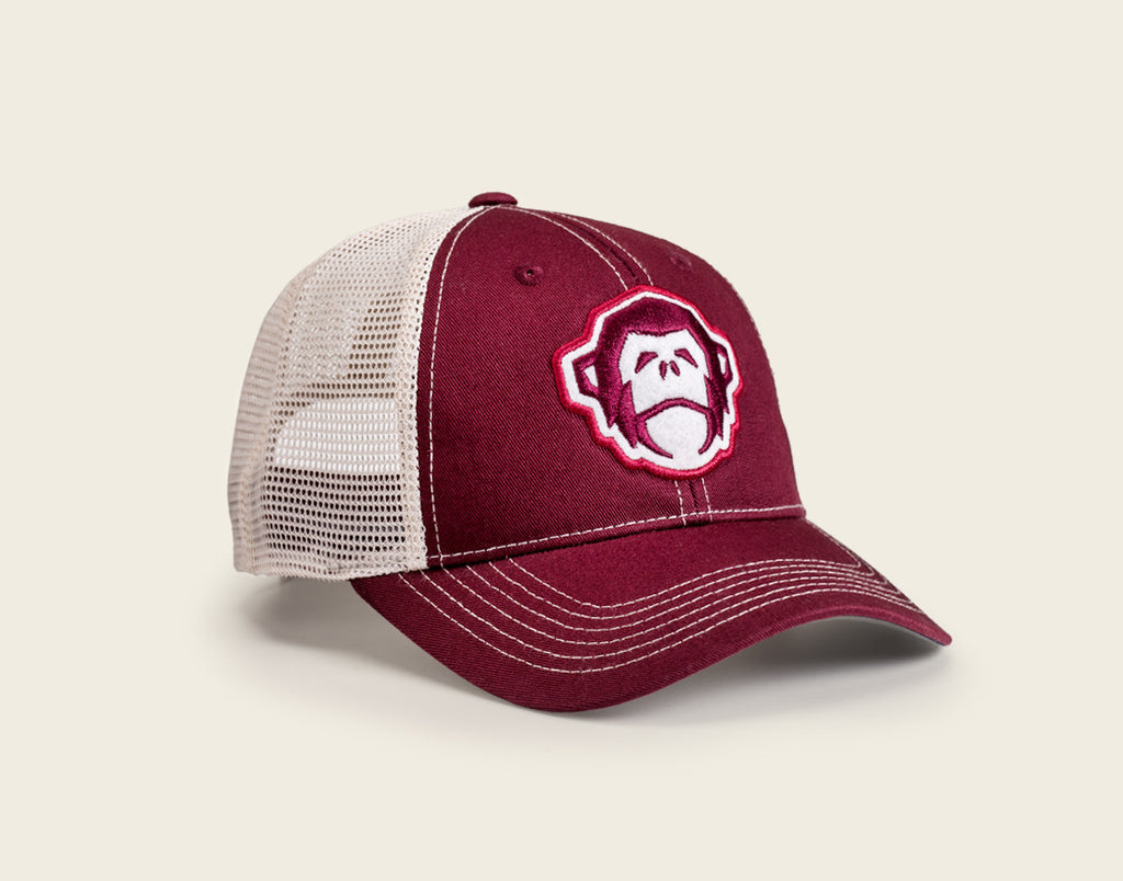 El Mono Mesh-Back Hat - Crimson