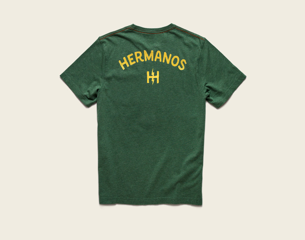 Flocked Hermanos Pocket T-Shirt