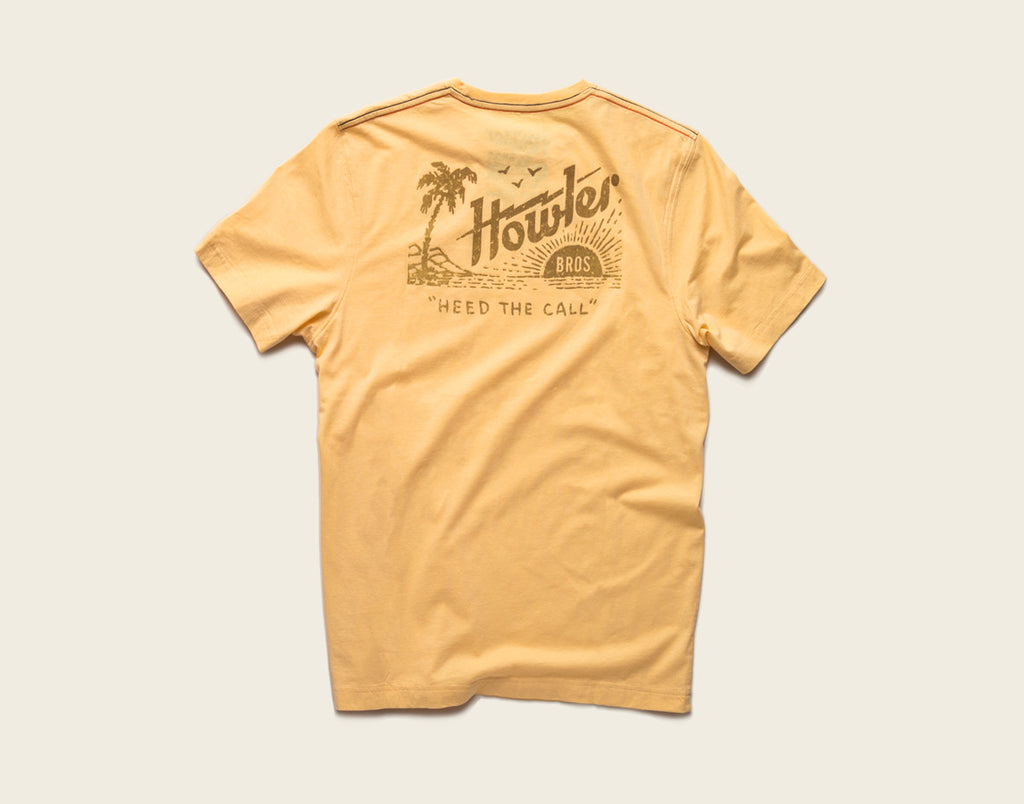 Flocked Paradise Pocket T-Shirt