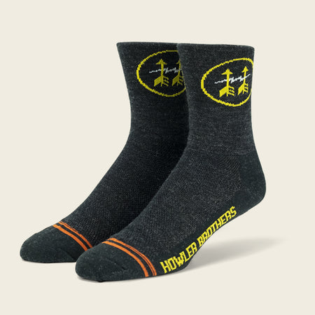 Midweight Performance Socks: Howler Brigade - Charcoal