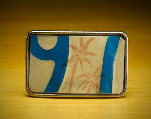 License Tag Buckle - '76 Hawaii Aloha