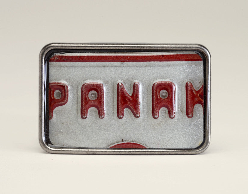 License Tag Buckle - Panama Blanco