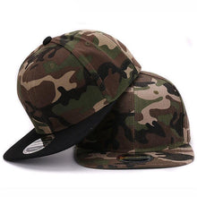 Load image into Gallery viewer, Camouflage Snapback Cap