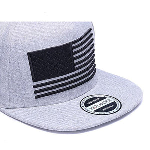 Raised flag embroidery Snap-back cap