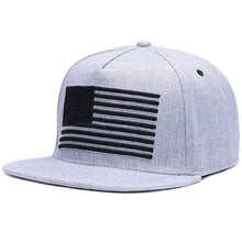 Load image into Gallery viewer, Raised flag embroidery Snap-back cap