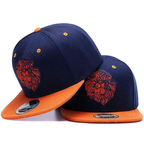 Lion face Snap-back cap