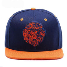 Load image into Gallery viewer, Lion face Snap-back cap