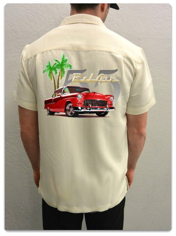 1955 Red Bel Air with Palms