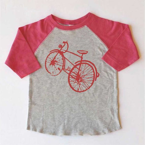 The Bicycle-Toddler Baseball T-Shirt-More colors available