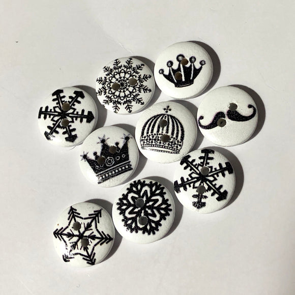 Petites B&W Buttons