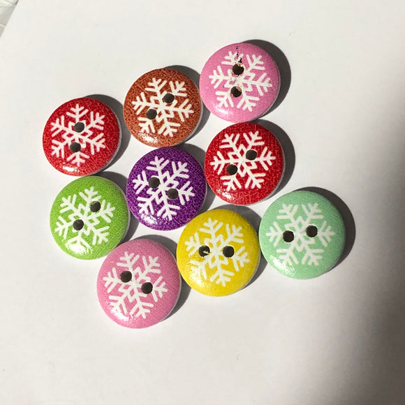 Petites Snowflakes Buttons