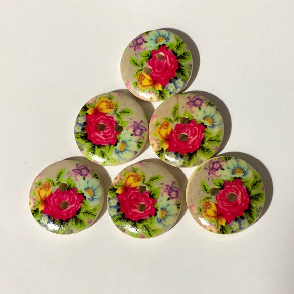 Vintage Roses Buttons