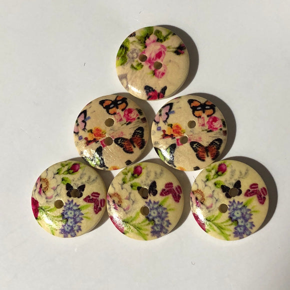 Vintage Tiny Butterfly Buttons