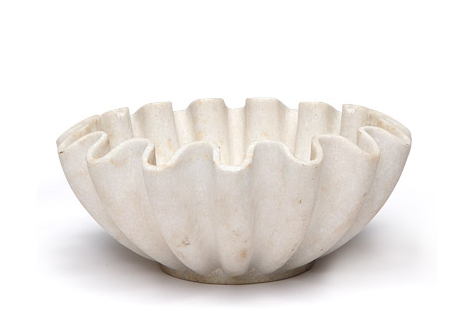 Darci Curved Marble Bowl // * Free Shipping