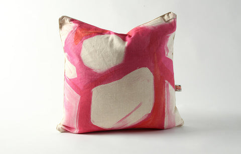 Rhombus Pillow in Pink // * Free Shipping