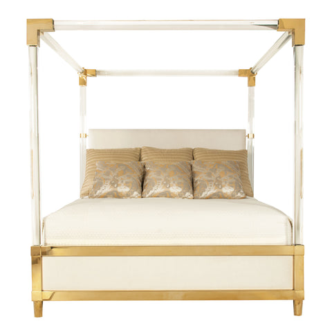 Aiden Acrylic Canopy Bed // Please contact us for pricing
