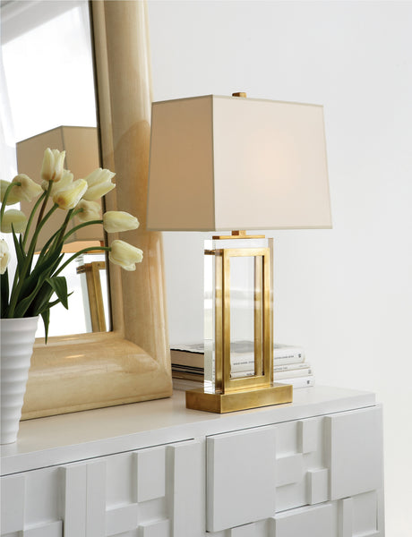 Visual Comfort Crystal Panel Table Lamp // Please contact us for pricing