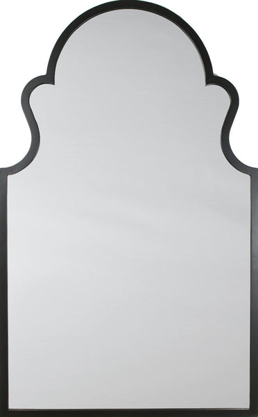 Ebony Hand Carved Arche Mirror