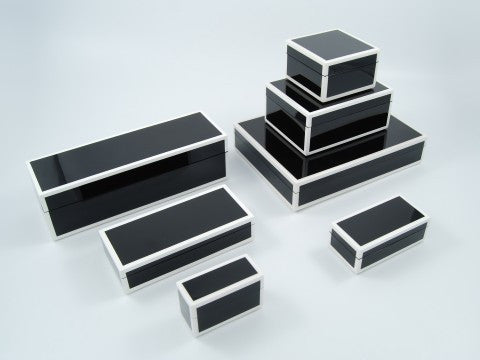 Lacquer Box Collection | Black and White // * Free Shipping