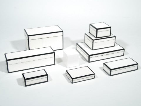 Lacquer Box Collection | White and Black // * Free Shipping