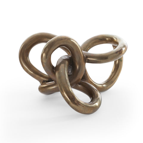 Antique Brass Knot Sculpture // * Complimentary Shipping // Editor's Choice