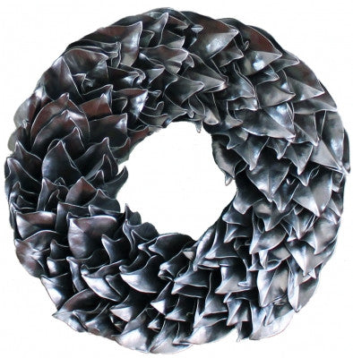 Lacquer Magnolia Wreath in Metallics // * Free Shipping
