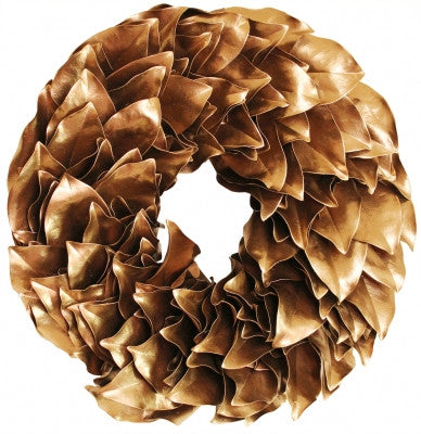 Lacquer Magnolia Wreath in Gold // * Free Shipping
