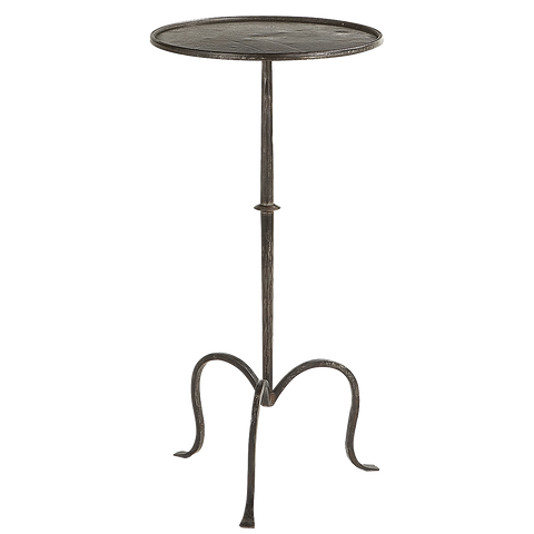 Hand-forged Martini Table in Aged Iron // * Complimentary Shipping