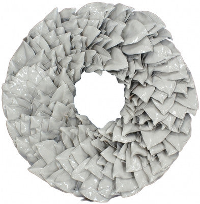 Lacquer Magnolia Wreath in White // * Free Shipping