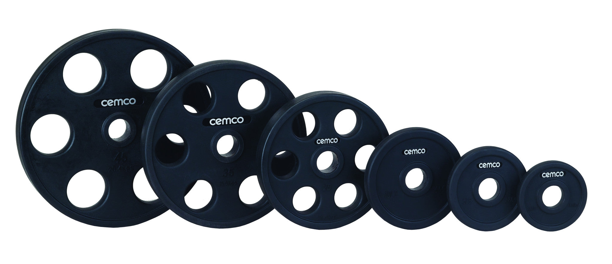 Cemco Power Grip Urethane Encased Olympic Weight Plates  - 1260 LB Set