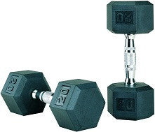 5-50 lb Cemco Rubber Hex Dumbbells and Dumbbell Sets, Hex Rubber