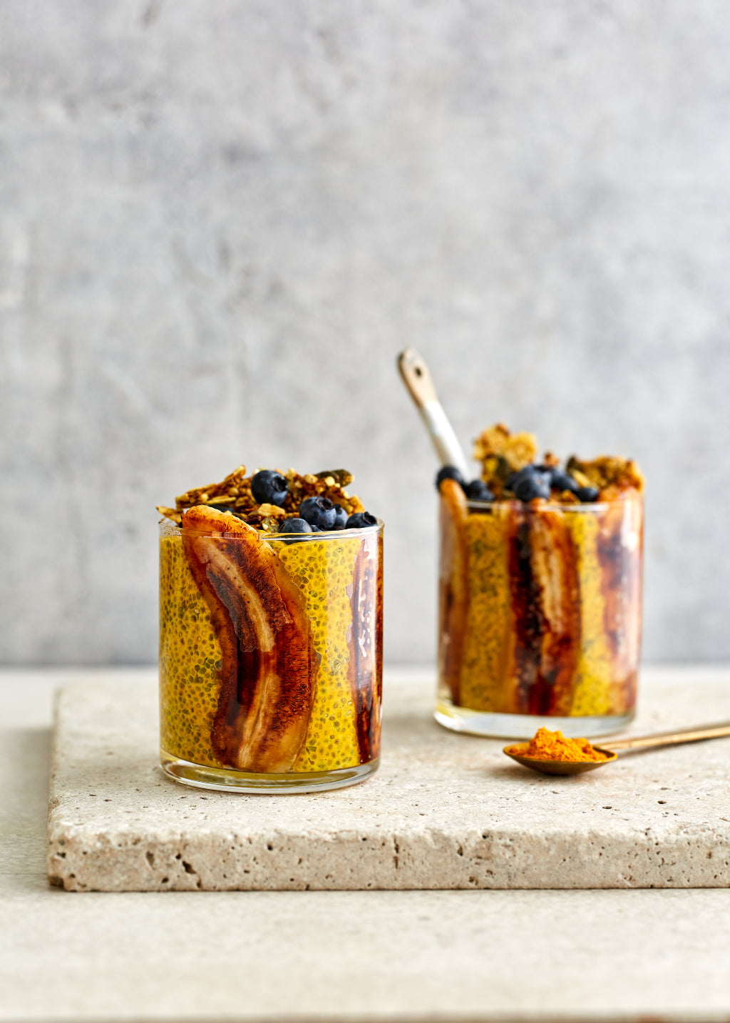 Golden Turmeric Chia Pots with Caramelised Banana | Harris Farm Markets