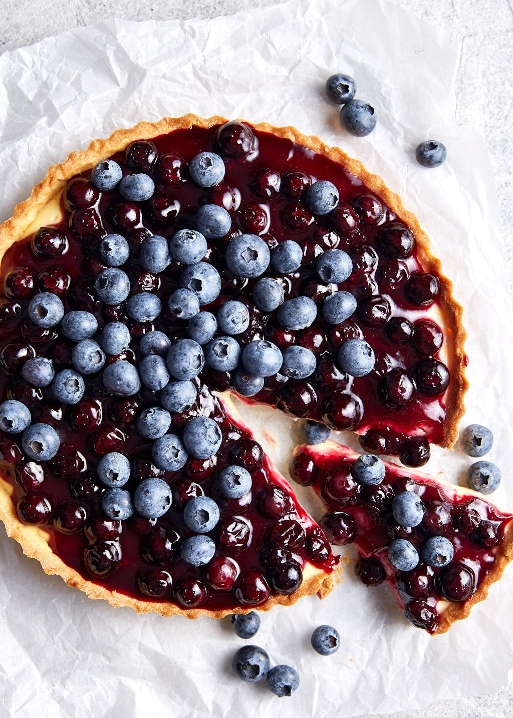 Harris Farm Blueberry Tart