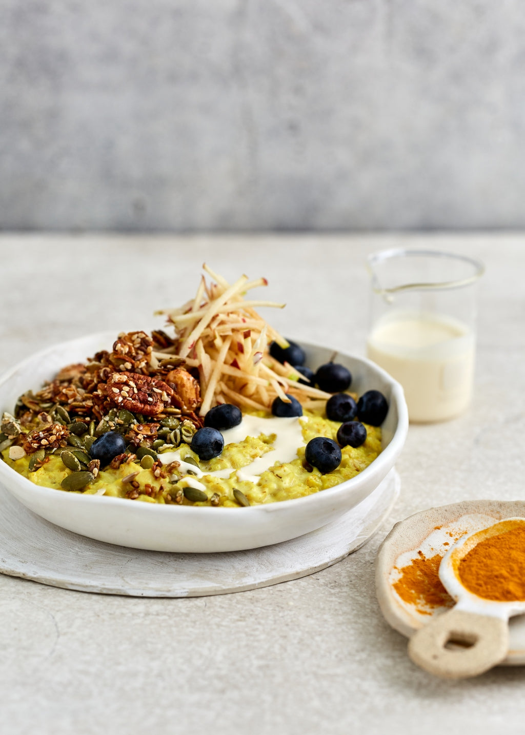 Turmeric Porridge with Toasted Mixed Nuts | Harris Farm Markets