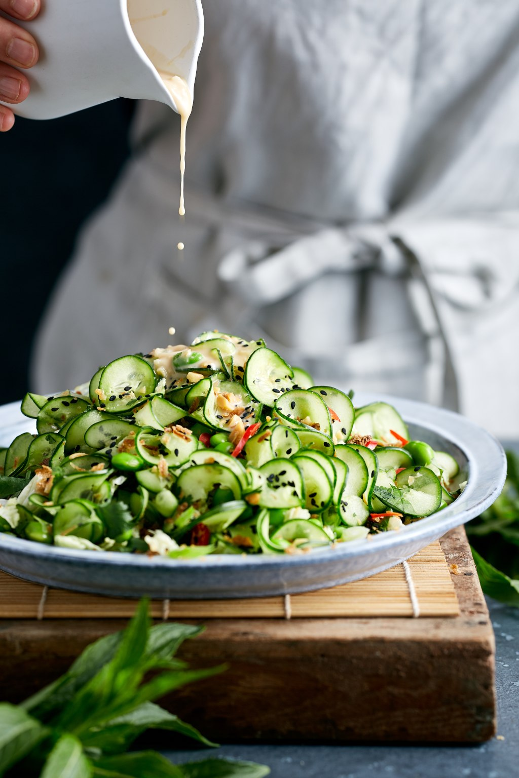 Fresh Cucumber Salad with Peanut Dressing | Spring Recipes