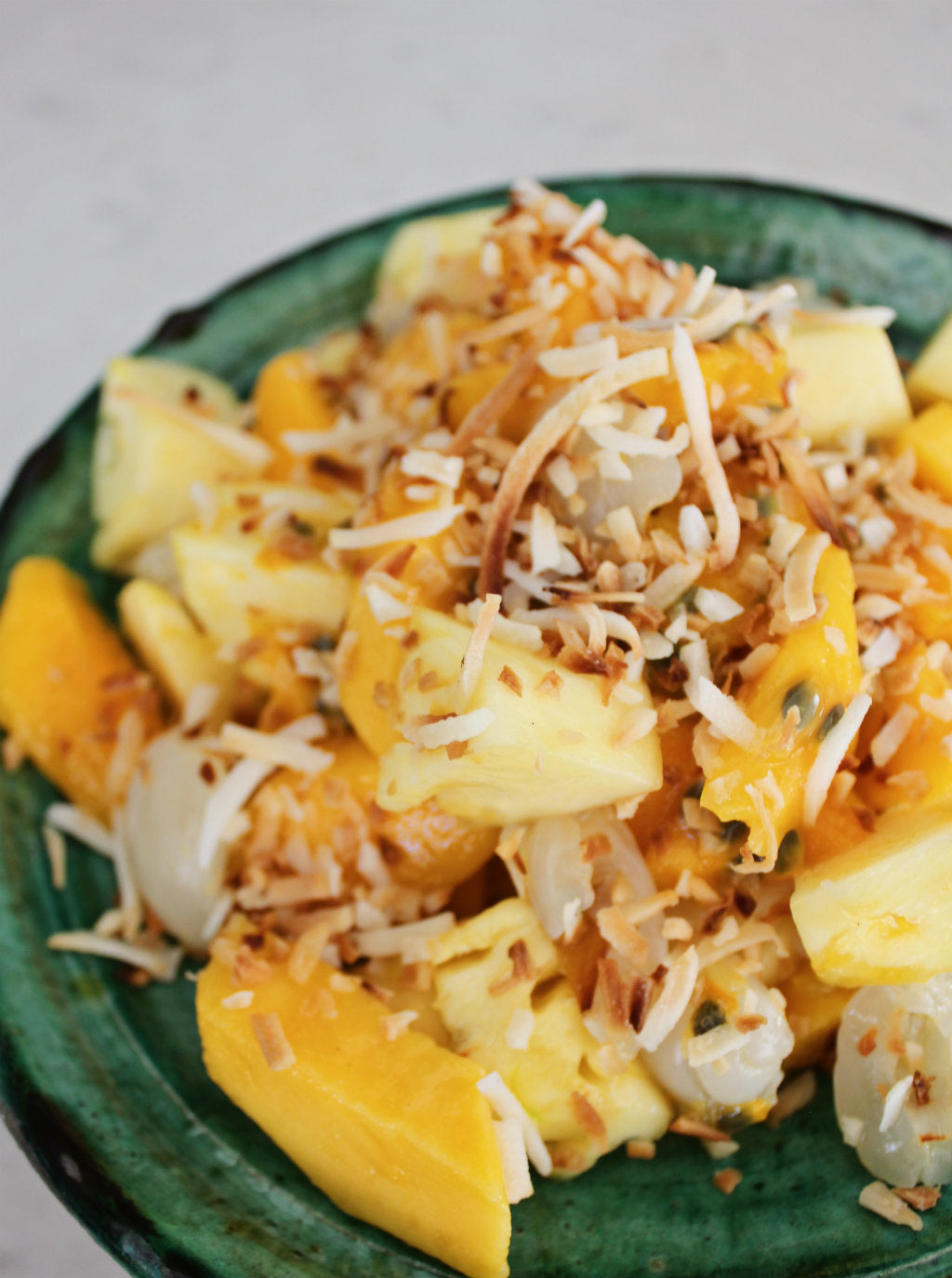 Pineapple, Mango, Lychee and Coconut Fruit Salad