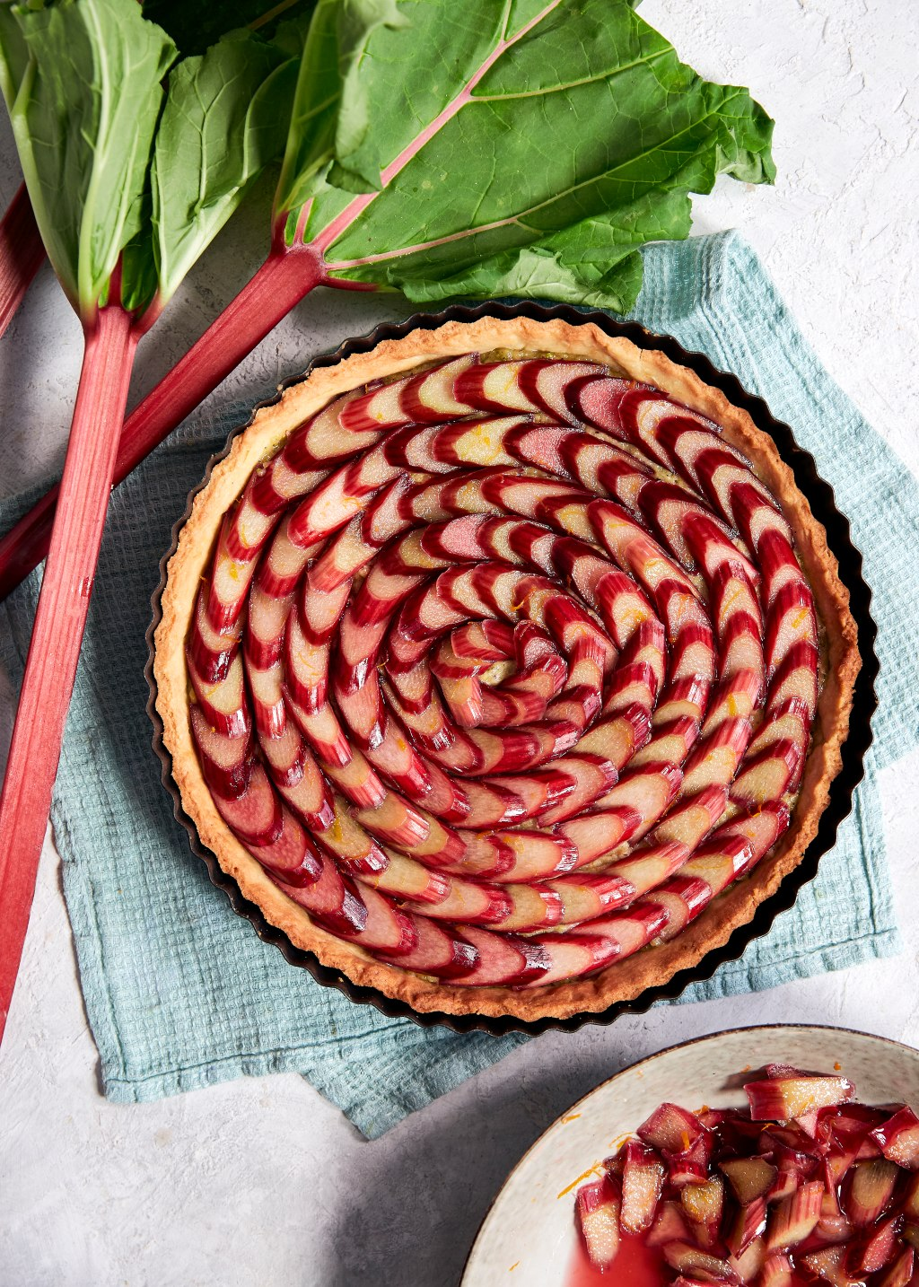 Rhubarb & Zesty Orange Tart | Rhubarb Recipes, Harris Farm Markets
