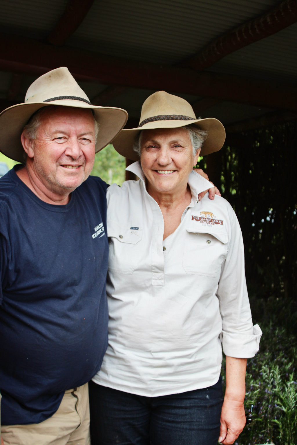 David and Cathy Harris on their Megalong Farm