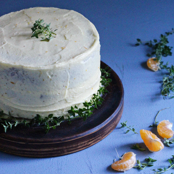 Mandarin & Thyme Cake with Mandarin Buttercream