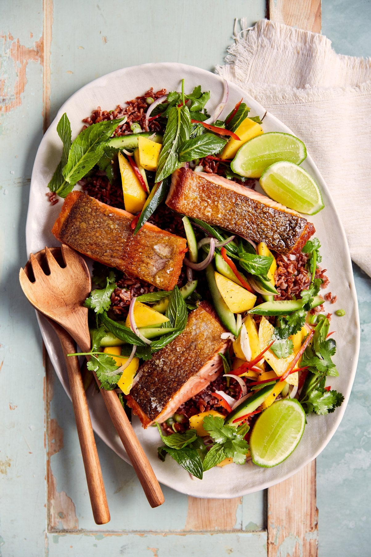 Grilled Salmon with Thai Style Mango Salad | Harris Farm
