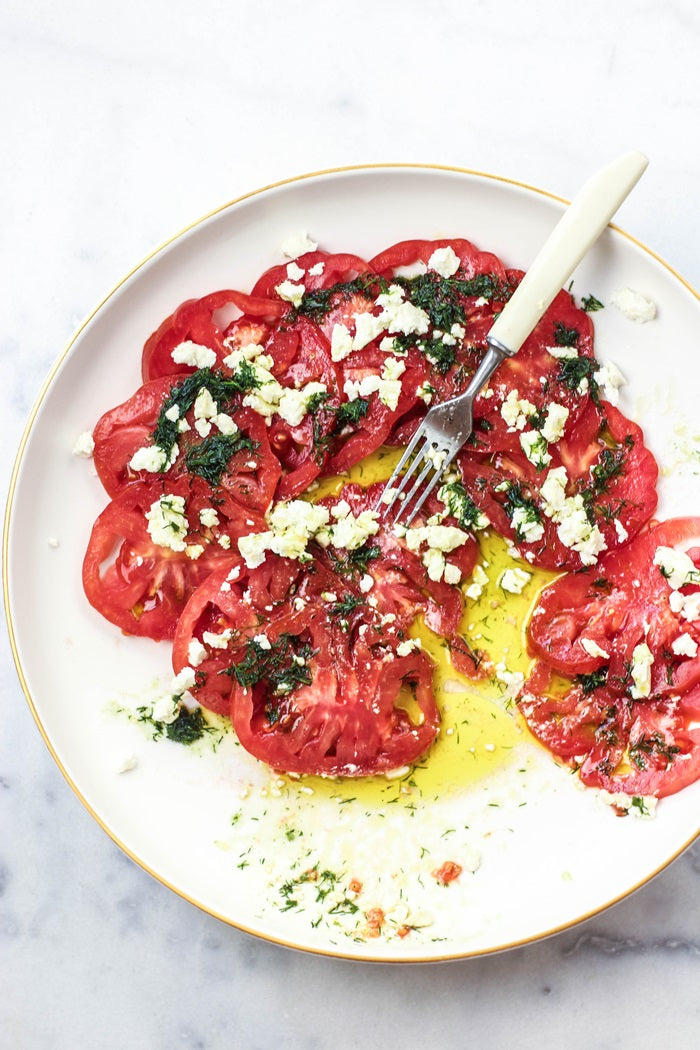 Tomato Carpaccio with Feta and Dill Recipe