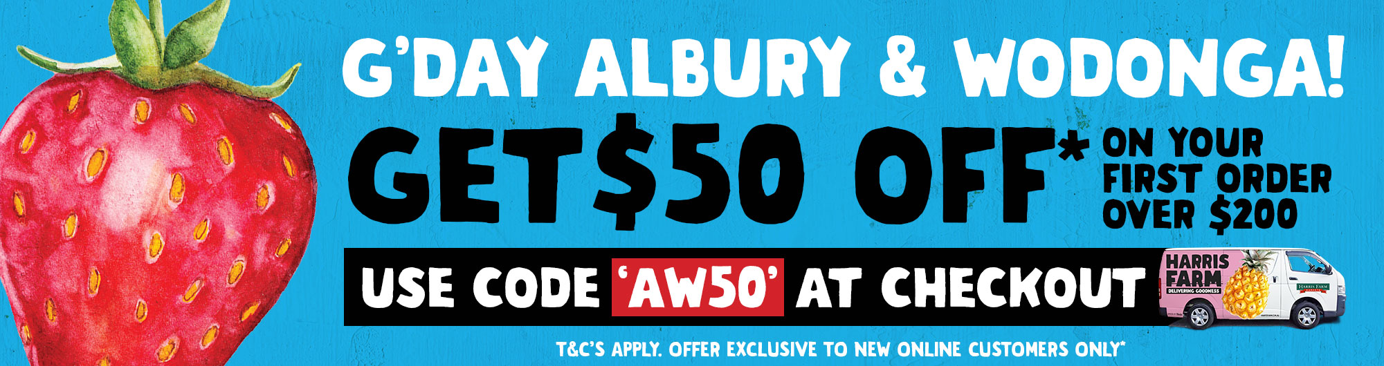Harris Farm Online Grocery Delivery and Albury Wodonga