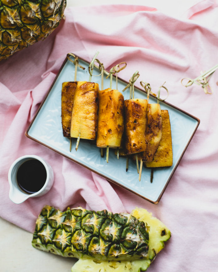 Caramelised Pineapple Skewers