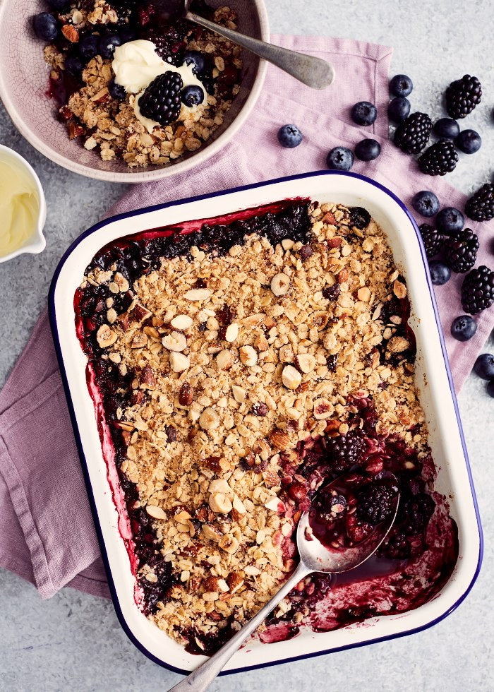 Nutty Berry Crumble