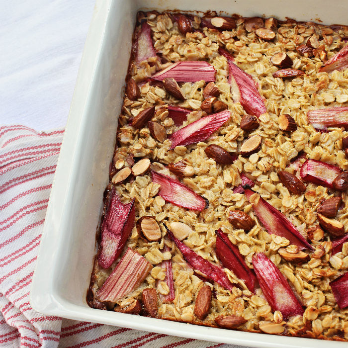 Baked Rhubarb and Pear Porridge Recipe