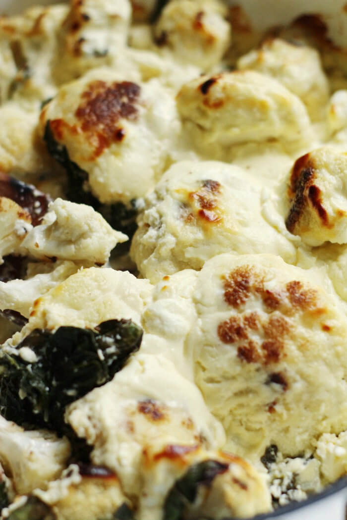 Cheesy Spinach and Cauliflower Bake Recipe