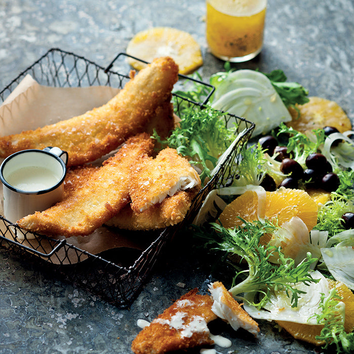 Crumbed Whiting with Citrus Salad
