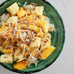 Pineapple Mango Lychee and Coconut Fruit Salad