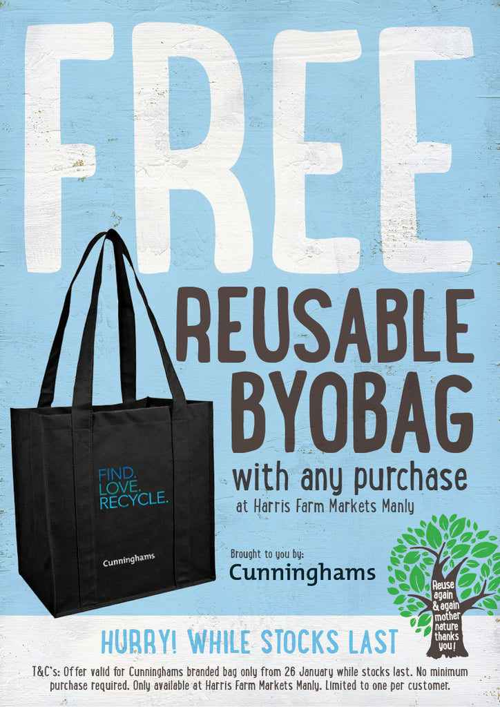 Free reusable BYOBAG from Cunninghams